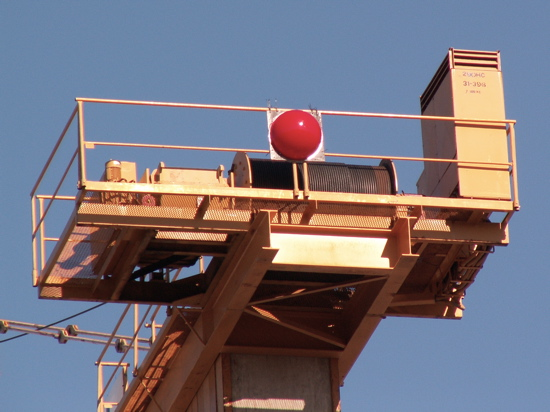 Red Nose on Crane