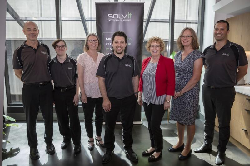 The SOLVit team: Aldy Stipnieks, Reece Draper-Roberts, Carol Herczeg, Damien Samios, Lisa Radovanov, Nicola McAuliffe, David Fox.