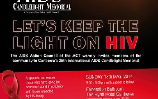 Canberra's 25th International AIDS Candlelight Memorial