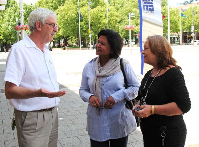 John Hargreaves, Azra Khan and Joy Burch 1
