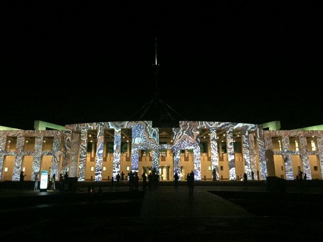enlighten canberra parliament house
