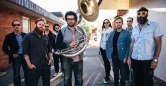Brass Knuckle Brass Band album launch