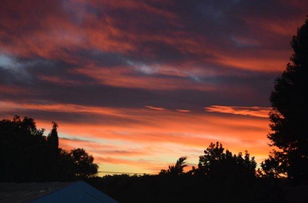 sunrise over canberra