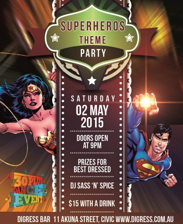 Digress Superheros Poster - Cropped