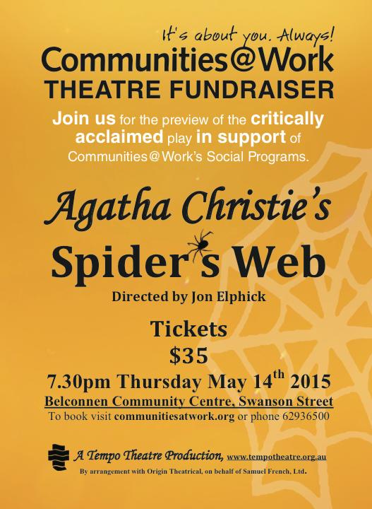 spider web agatha christie comms at work