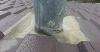 Leaky roof – flues not sealed correctly?