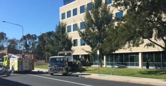 Car crashes into IP Australia building