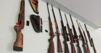 Guns and ammunition seized in Fisher