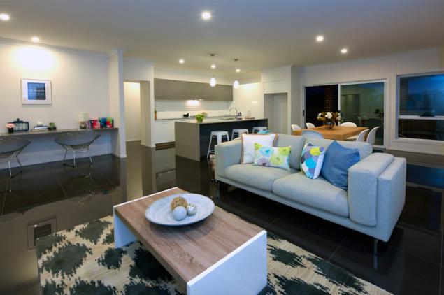 Green Homes Australia display home living area