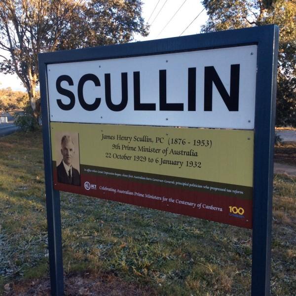 scullin suburb sign