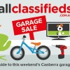allclassifieds canberra garage sale banner