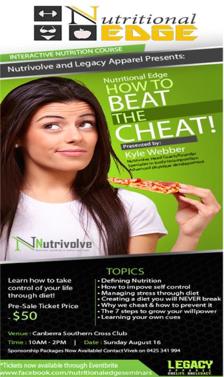 seminar flyer cheat meals