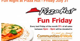 Friday fun night tonight at Pizza Hut