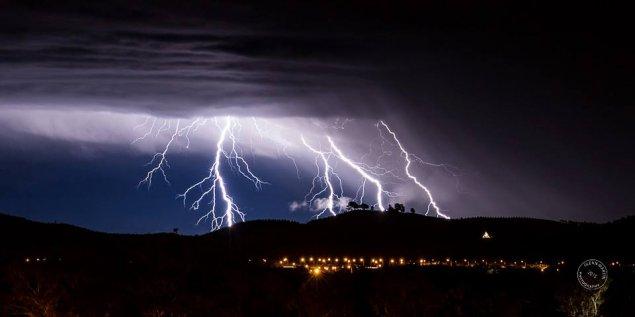 storm over canberra arboretum