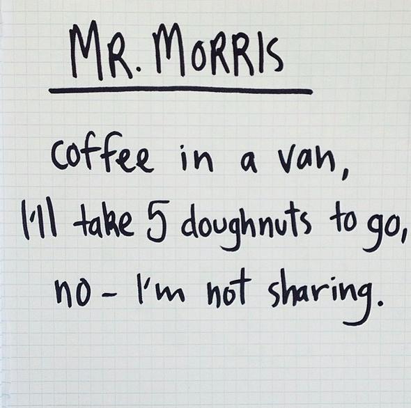 mr morris canberra cafe haiku