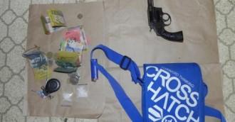 Loaded gun, drugs seized in Kaleen