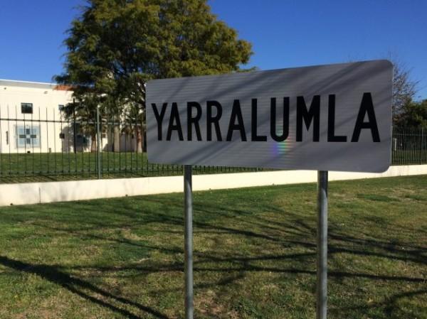 Yarralumla suburb sign