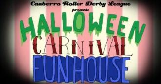 "Roller derby ""Halloween Carnival Funhouse"""