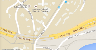 Motorcyclist stable after Parkes Way crash