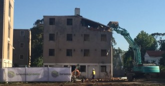 First of Dickson Flats demolitions underway