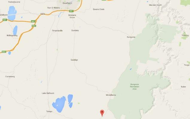 Windellama locator map