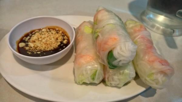 A serve of Vietnamese rice rolls