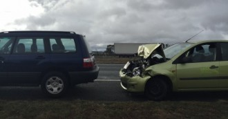 Four-car crash near Hindmarsh/Monaro intersection, second collision on Monaro