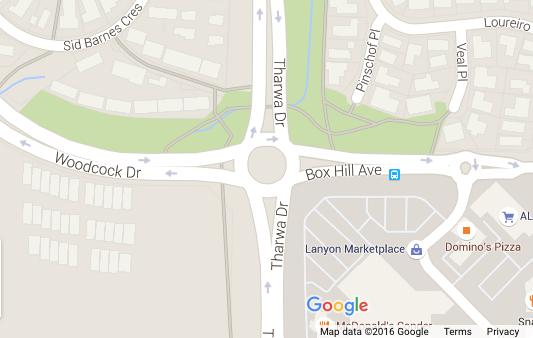 Roundabout at Lanyon shops