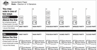 One number still valid on Senate ballot paper