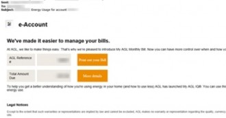 Ransomware email scam targeting AGL Energy customers