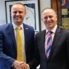 Andrew Barr with NZ PM John Key