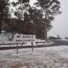 Snow on Mt Ainslie. Photo: John Lafferty