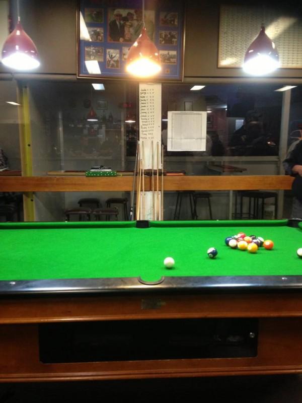 Pool table at Fraser Tavern. Photo: Jade Hawker