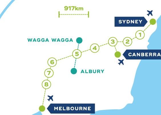 Route map CLARA