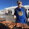 The sausage sizzle at Old Parliament House. Photo: Siobhan Heanue/ABC