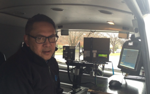 A look inside an ACT mobile speed camera van
