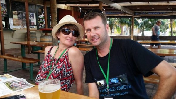 Georgina Jenkins and Robb Shaw-Velzen at the Byron Bay Film Festival