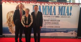 Will ABBA stars visit for Mamma Mia premiere?