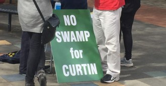 Ask RiotACT: No swamp for Curtin signs
