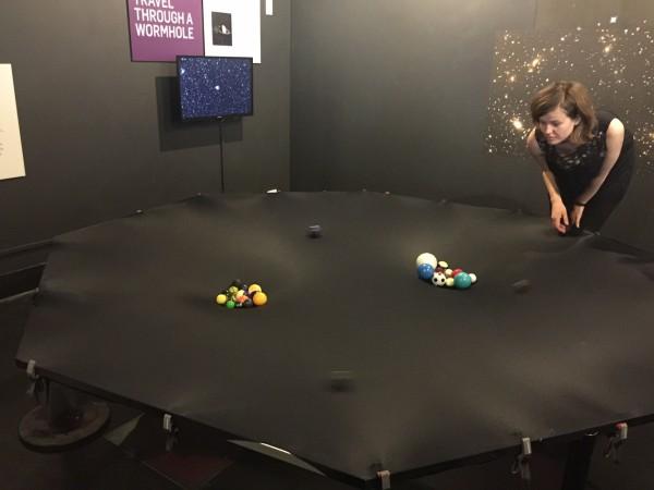 Wormhole exhibit in Astrozone