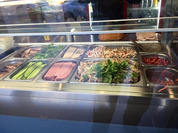 Banh Mi ingredients at Little Saigon