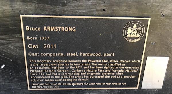 'Owl' plaque.