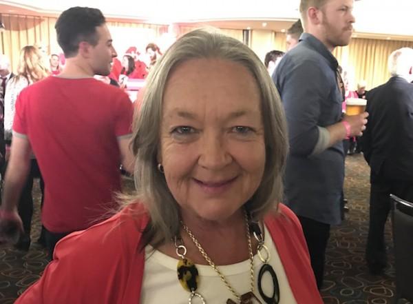 Joy Burch on election night. Photo: Charlotte Harper