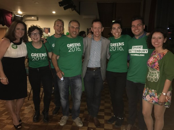 Shane Rattenbury and supporters.