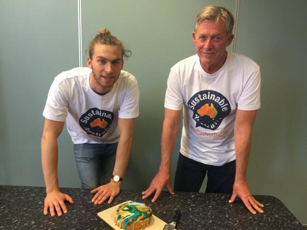 Oliver and Martin Tye of Sustainable Australia.