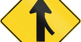 Merging traffic behaviour