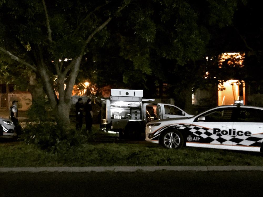 Police investigate a suspicious death in Watson. Photo: Charlotte Harper