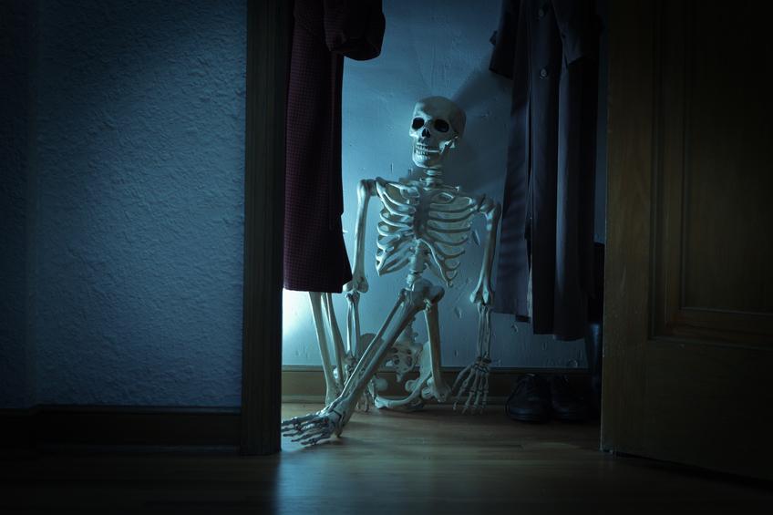 Skeleton in the closet. Photo: iStock