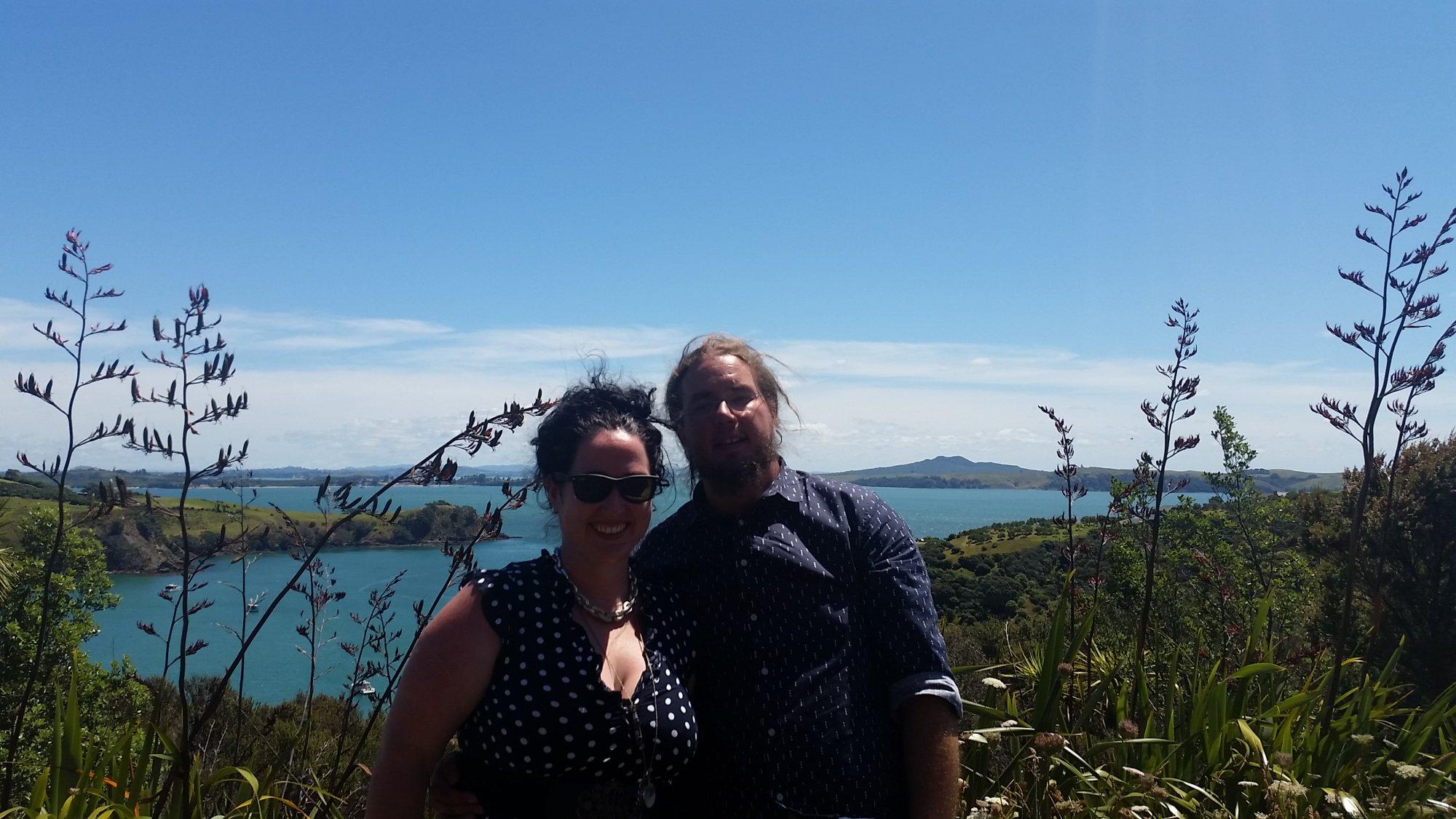 Rach and Al Moore - New Zealand - Waiheke Island
