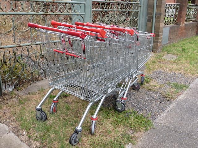 Coles trolleys abandoned in Goulburn. Photo: John Thistleton.
